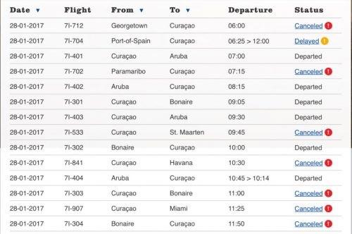 Alle buitenland-vluchten Insel geannuleerd