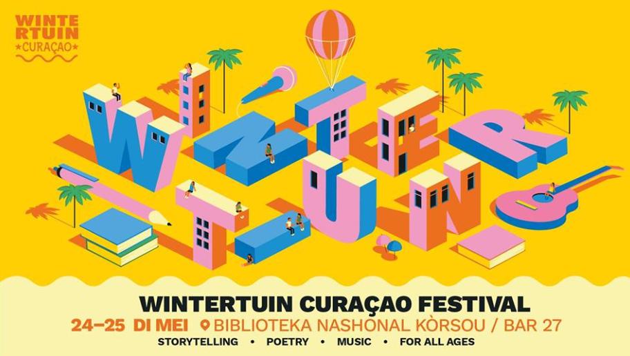 Mensen Zeggen Dingen op het Wintertuin Curaçao Festival