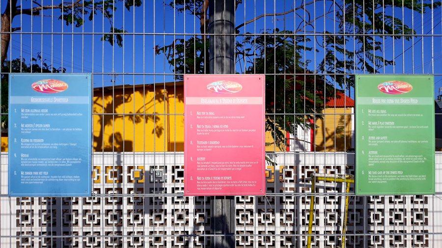 Sportveldvernieuwingsproject in Fleur de Marie