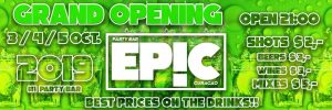 Grand Opening - EPIC party Bar @ Villa Royal