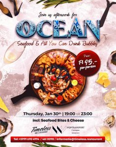 Seafood and Bubbles @ pin Timeless Bar & Restaurant
