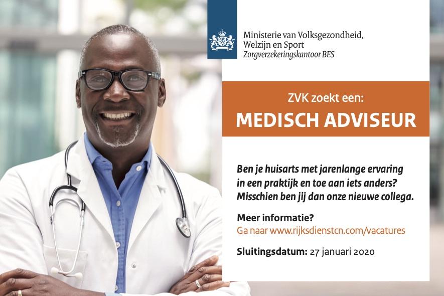 Vacature Medisch Adviseur (ZVK) Bonaire