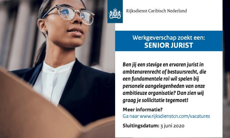 Vacature Senior Jurist Bonaire