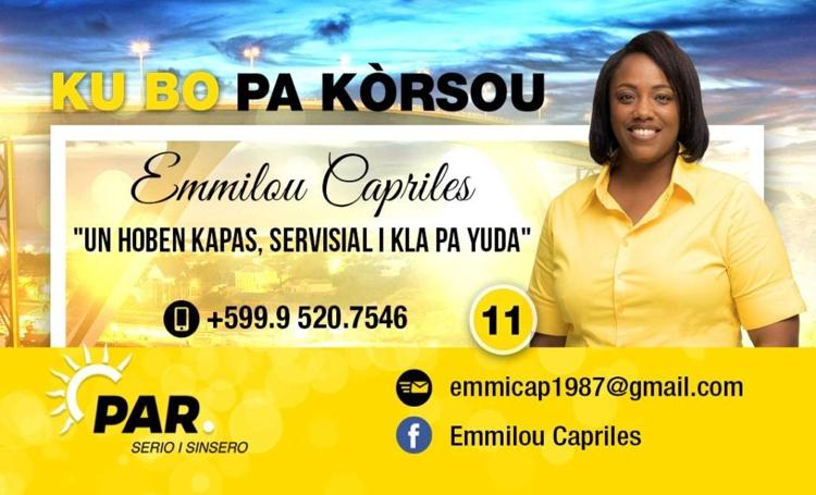 Emmilou Capriles voor PAR in de Staten