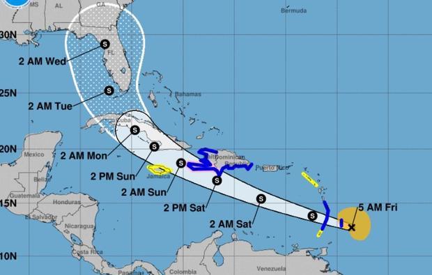 Elsa is eerste orkaan 2021, maar geen bedreiging Aruba